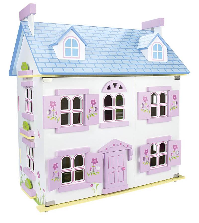 Casita con muebles tienda online de juguetes de madera for Casas de muebles online